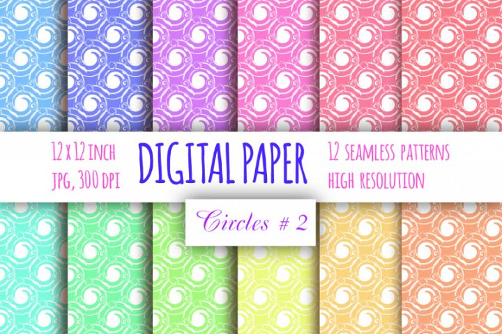 Curls digital paper. Whirls seamless pattern