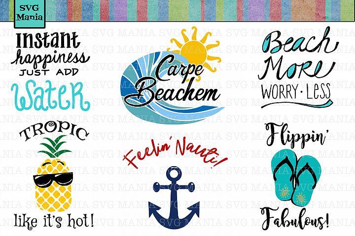 Ultimate Beach SVG Bundle, Beach SVG File Bundle, Beach Cut Files, Beach Shirt SVG Files