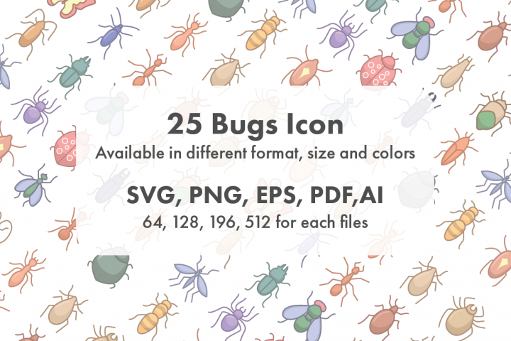 Bugs Icon Set Collection