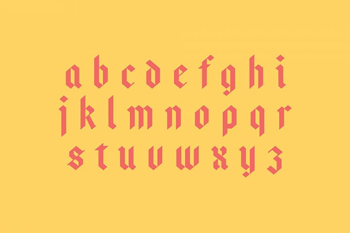 Bajern Typeface example 2