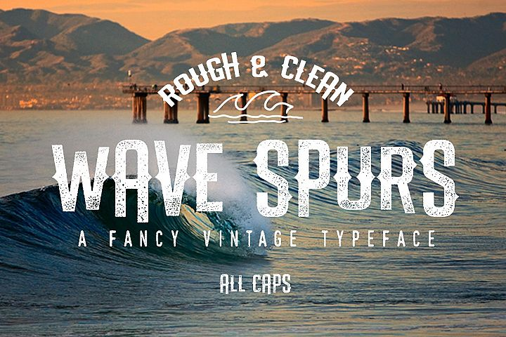 The Wave Spurs Typeface example