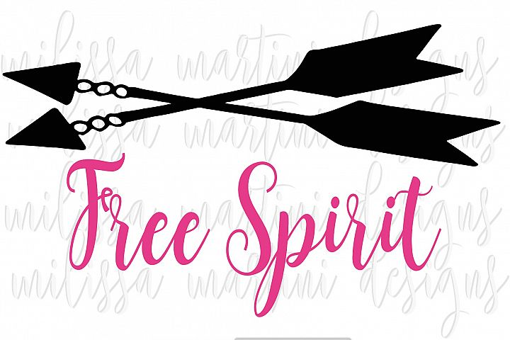 Free Spirit SVG Cut File example 4