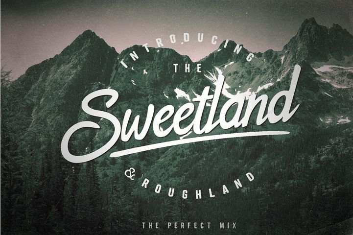 The Sweetland Typeface Font Duo
