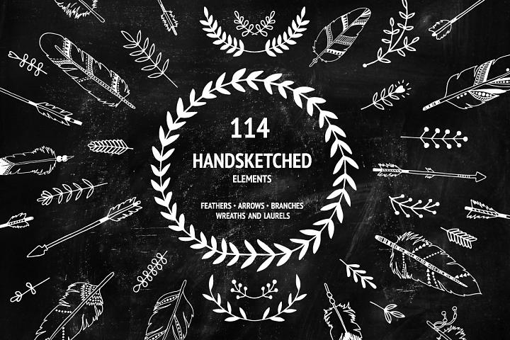 114 Handsketched Tribal elements