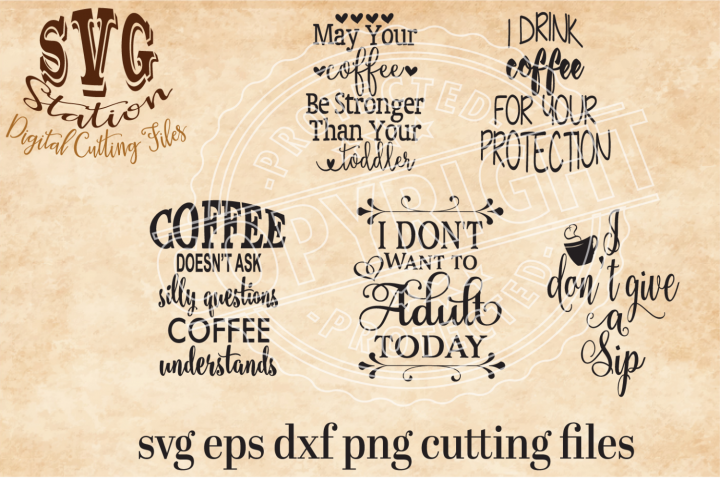 Coffee Svg Cutting Collection