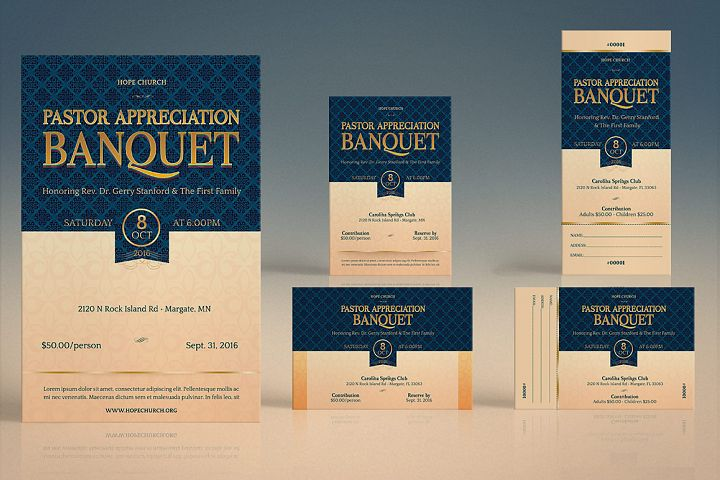 Pastor Appreciation Banquet Template Kit