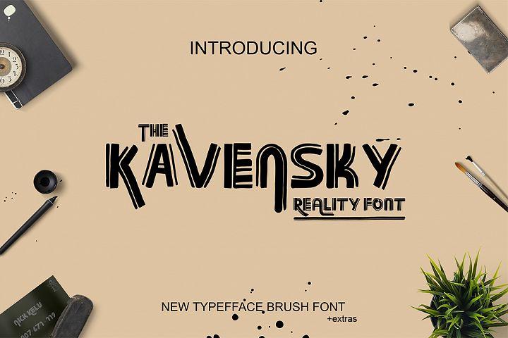 Kavansky Logo Font