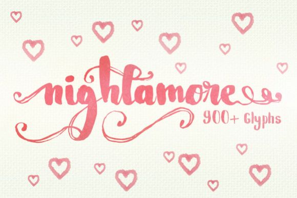 Nightamore - Free Font of The Week Font