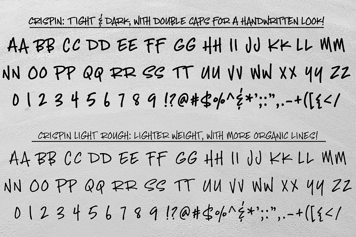 Crispin - handwritten marker font - Free Font of The Week Design0