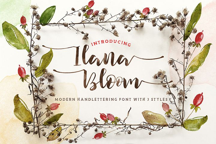 Ilana Bloom - Free Font of The Week Font