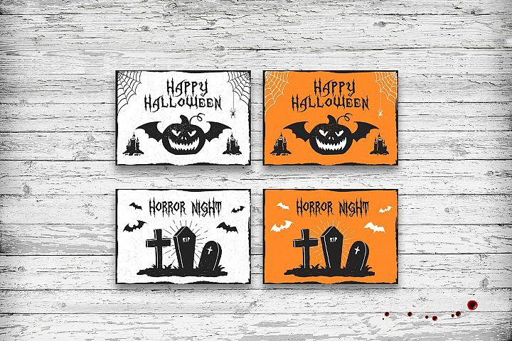 Halloween. 20 Greeting Cards - Free Design of The Week Design 8