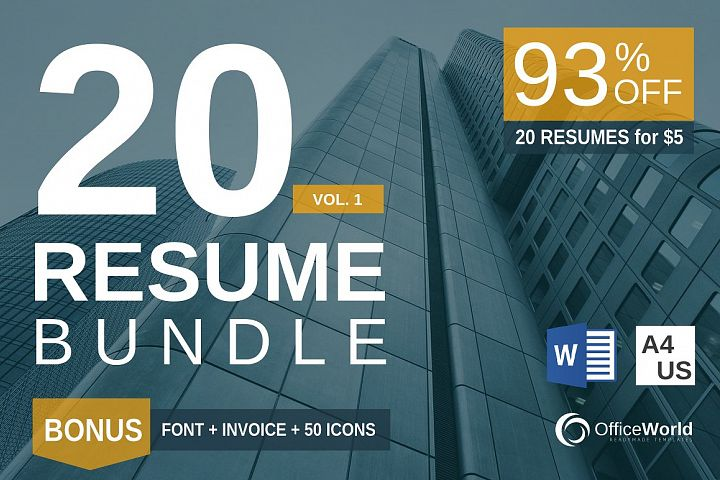 93 OFF | 20 Resume  BONUS