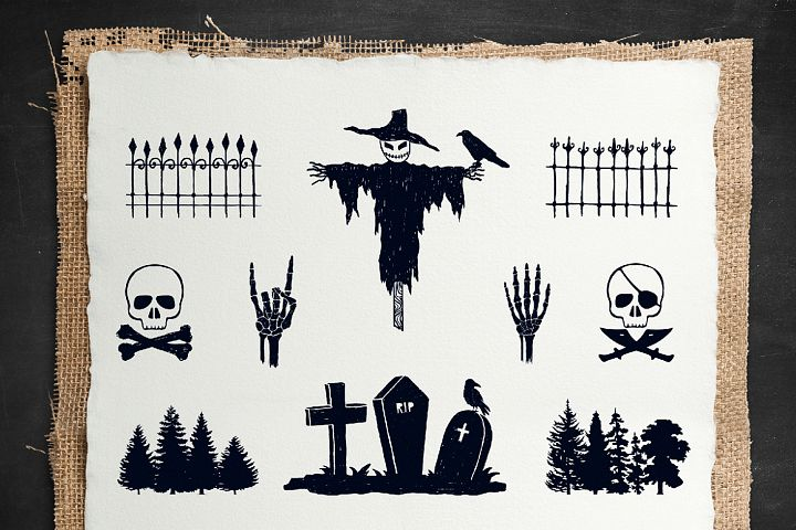 Halloween. 50 Hand Drawn Objects - Free Design of The Week Design 2