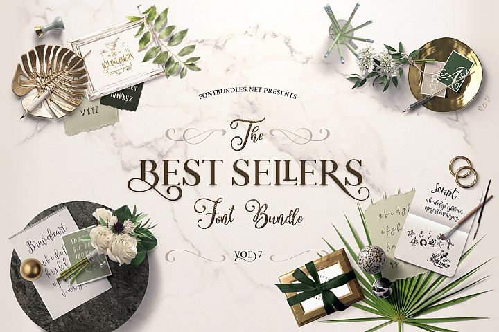 Best Sellers Font Bundle 7