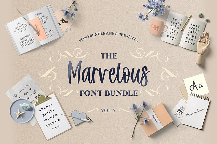 The Marvelous Font Bundle 7 Cover