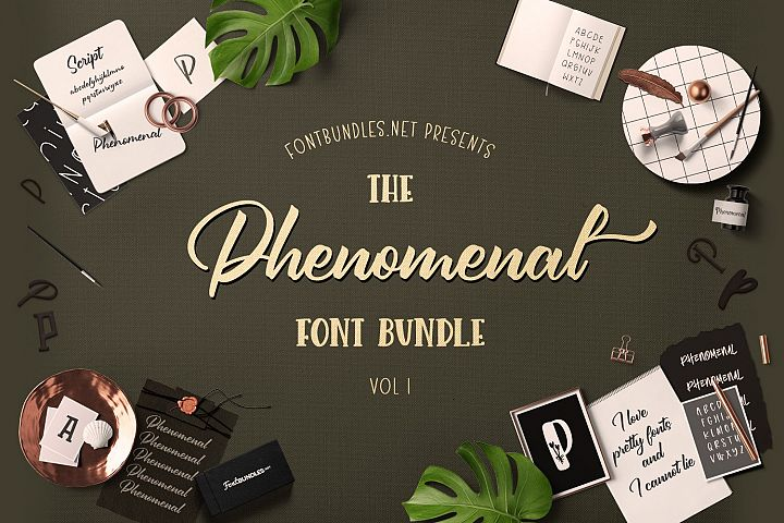 The Phenomenal Font Bundle 1