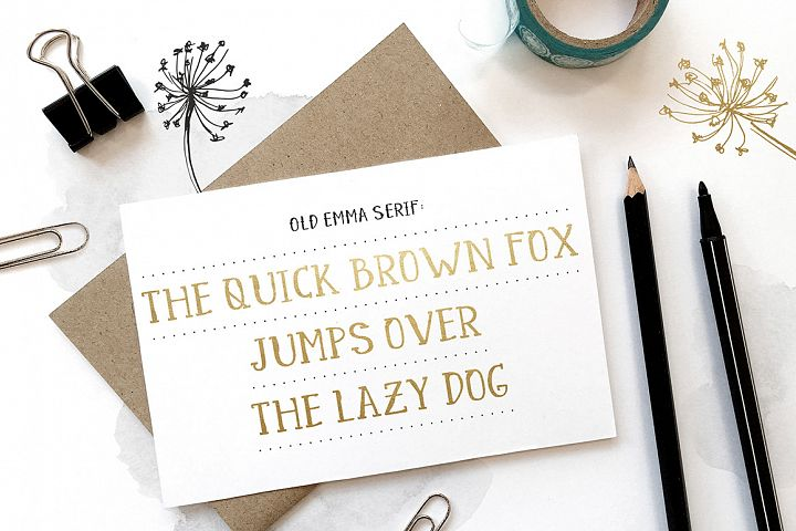 Old Emma - Free Font of The Week Design 3