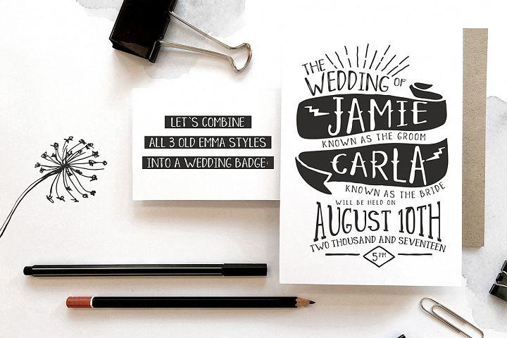 Old Emma - Free Font of The Week Design 2