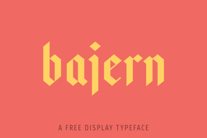 Bajern Typeface example