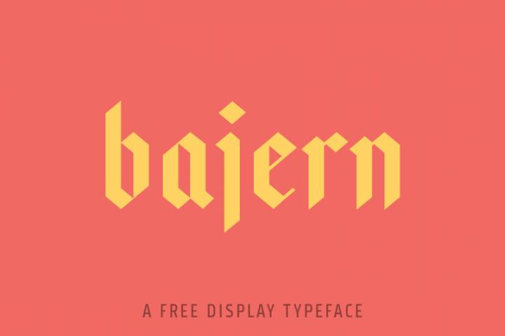 Bajern Typeface example