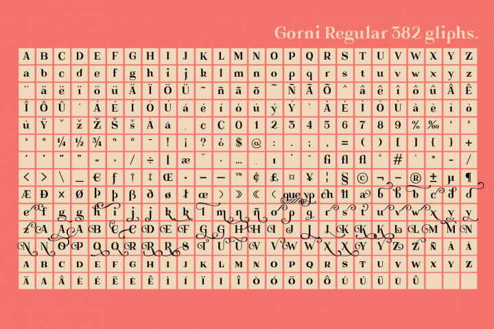 Gorni Typeface - Free Font of The Week Design 5
