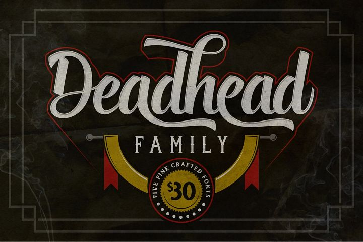 Deadhead Typeface Family - Free Font of The Week
