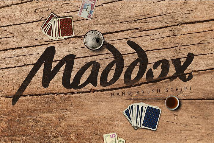 Maddox Hand Brush Typeface