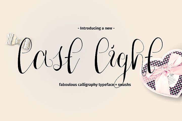 Last Light Calligraphy Script