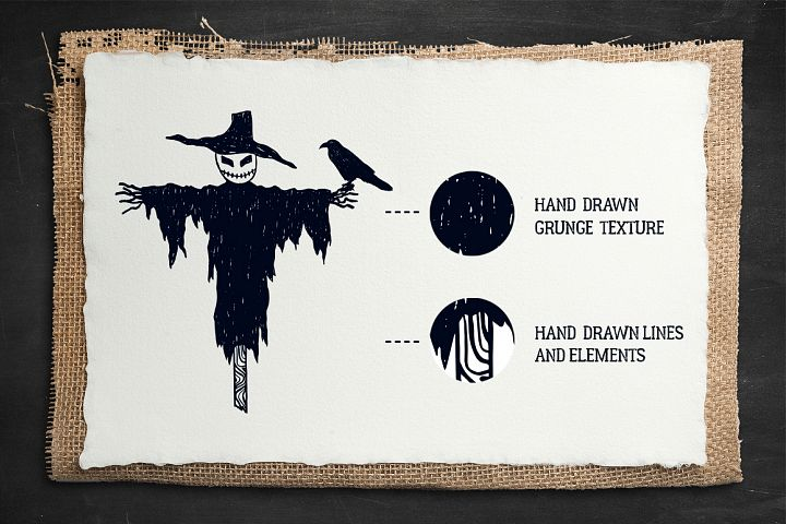 Halloween. 50 Hand Drawn Objects - Free Design of The Week Design 1