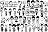 Stick People of Many Kinds AI EPS PNG example image 1