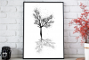 Black Tree Ink Art, A1, SVG example image 3