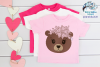 Floral Bear SVG | Cute Bear Face SVG Cut File example image 3