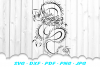 Chinese Dragon Tribal Design SVG DXF Cut Files example image 2