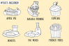 A to Z Fun Foods Digital Stamps example image 2