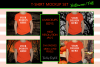 Halloween and Fall Boys t-shirt Mockup Bundle, Orange tShirt example image 1