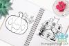 Jack O' Lanterns Digital Stamps example image 3