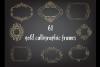 Deco Gold foil frames clip arts, Elegant calligraphic frames example image 1