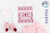 Too Cute For An Ugly Sweater SVG | Christmas SVG Cut Fil example image 1