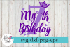 My 7th Birthday Party Diva SVG Cutting Files example image 1