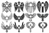 Cross with Wings SVG, Cross Svg, Angel Wings, Circle Frames example image 2
