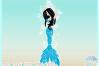 Mermaid Dance Ballet Mandala Zentangle SVG example image 3
