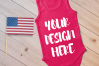 4th July Singlet Baby Bodysuit Mockups - 7 example image 2