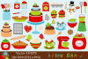 Christmas Baking Clipart - Vector example image 1