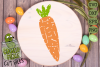 Plaid & Grunge Carrot Easter / Spring SVG Cut File example image 2