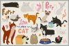 80 Cute Cat Vector Clipart & Seamless Patterns example image 4