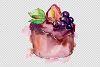 Dessert Brown Watercolor png example image 5