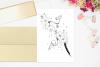 black bunch floral Doodle Art A1, SVG example image 4
