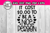 It cost $0.00 to be a nice person - inspirational quote example image 2