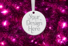 Round Christmas Ornament Mockup, Bauble Mock- Up, JPG example image 7