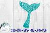 Whale Tail Mandala   Animal Mandala SVG Cut File example image 2